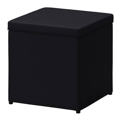 storage cube ottoman ikea bosn 196 s footstool with storage ransta black ikea