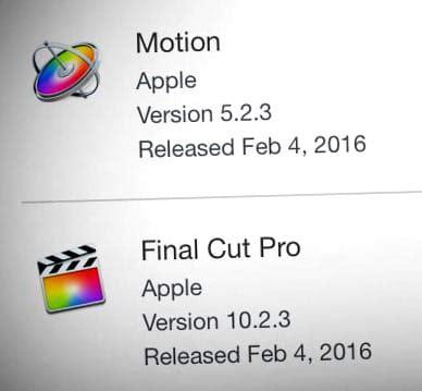 final cut pro video formats mise 224 jour final cut pro x 10 2 3 motion compressor et