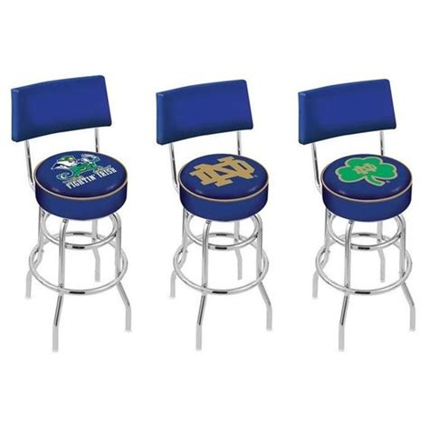 Notre Dame Bar Stools by Notre Dame Fighting Chrome Retro Bar Stool With Back
