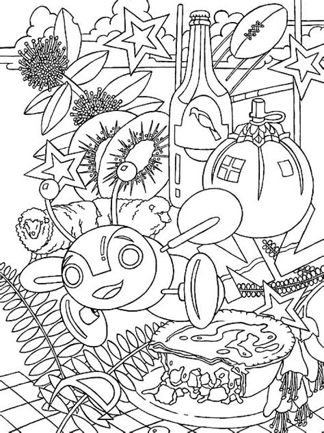 colouring book for adults nz new zealand kiwiana free colouring in page from