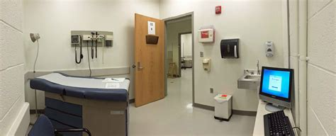 examination room inside hospital room with patient