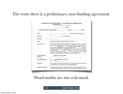 non binding term sheet template hacking term sheets