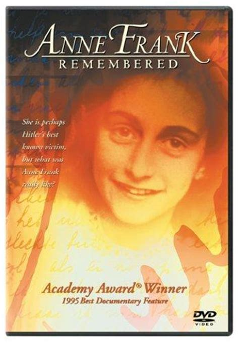 biography of anne frank movie anne frank remembered 1995 imdb