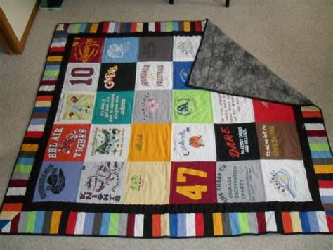 How To Make A Quilt From Tshirts by T Shirt Quilt Use Scraps To Make Coordinating Band