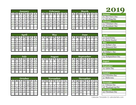 editable  yearly calendar landscape  printable templates