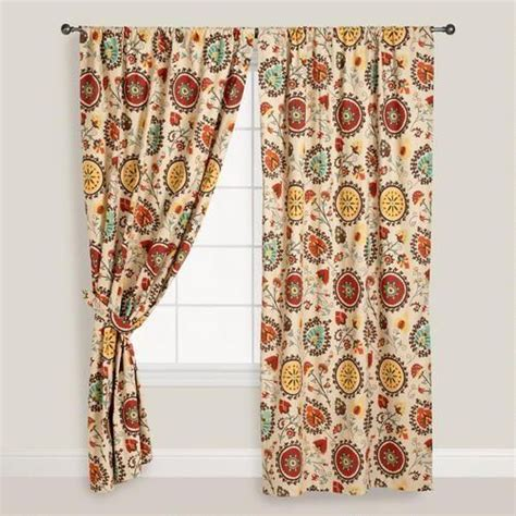 suzani print curtains suzani print curtain world market for the home pinterest