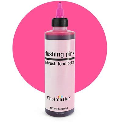 blushing pink color blushing pink airbrush color 9 ounce by chefmaster