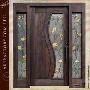Stained Glass Front Door Panels Custom Entry Door Door With Sidelight Scottsdale Factory
