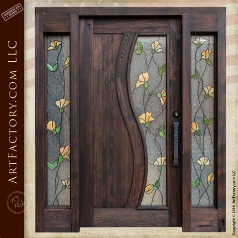 stained glass front door custom wood iron doors stained glass entry doors