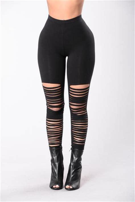 Legging Ripped black ripped black