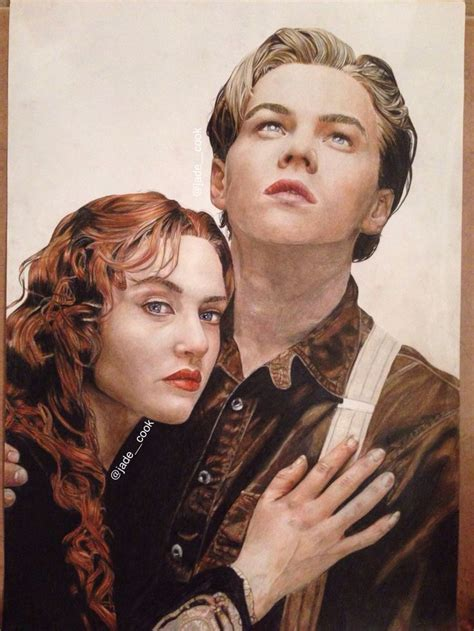 film titanic biographie my coloured pencil a1 drawing of titanic rose and jack