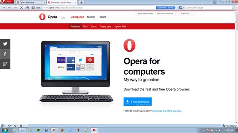 web software for pc image gallery opera web browser