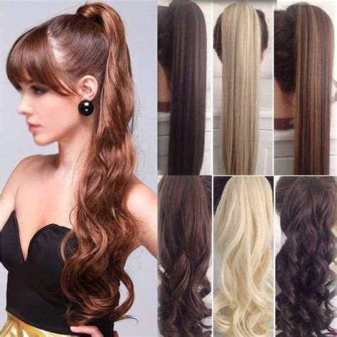 ponytail extensions hair hair wrap ponytail clip in pony hair extensions real