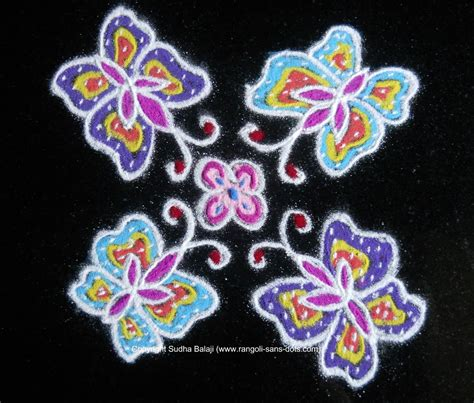 dot pattern rangoli designs rangoli designs with dots 6 dots kolam by sudha balaji