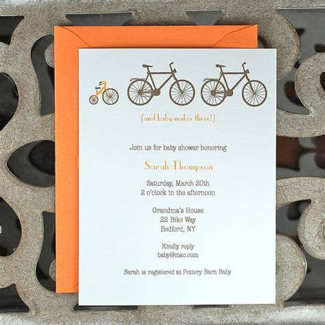 Bicycle Baby Shower Invitations by Bicycle Baby Shower Invitations Bikes Tricycle Baby