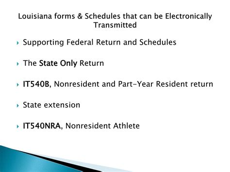 Part Time Resident Mba Intenational State Taxes by Ppt Louisiana Department Of Revenue Powerpoint