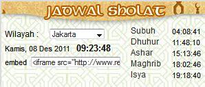 tutorial sholat jum at ulumcomputer cara membuat jadwal sholat di blog
