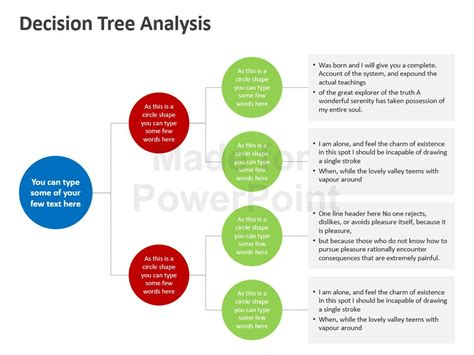 decision tree template for powerpoint decision tree analysis template powerpoint slides