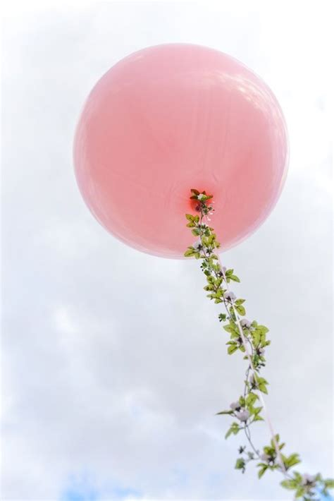 String Balloon - pink balloon with string pretty pearls incorporated