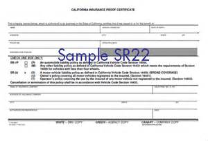 Sr22 form what is it dui attorney in san jose oakland san