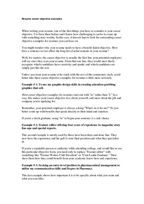 resume objective examples for students techtrontechnologies com