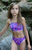 Young Little Girl Models Spread
