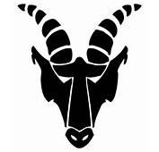 Capricorn Tattoo Art Goat Animal Head Design  Just Free Image