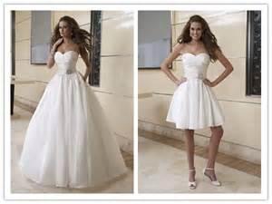 Wedding dresses one dress two styles trendy fashionable dresses