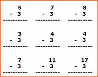 Subtraction Facts Worksheets For First Grade Teachers And Students