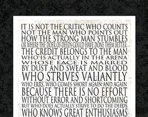 printable theodore roosevelt quotes popular items for man in the arena on etsy