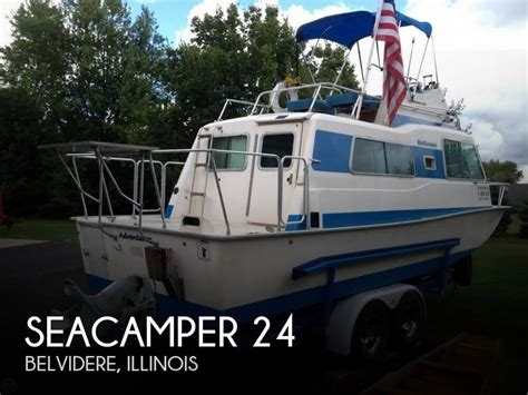 small pontoon boats for sale illinois sold seacer 24 boat in belvidere il 100108
