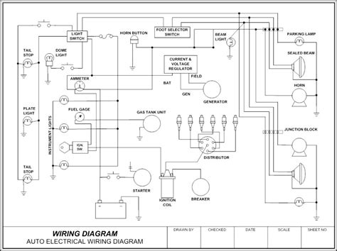 wiring diagram auto template sle templates