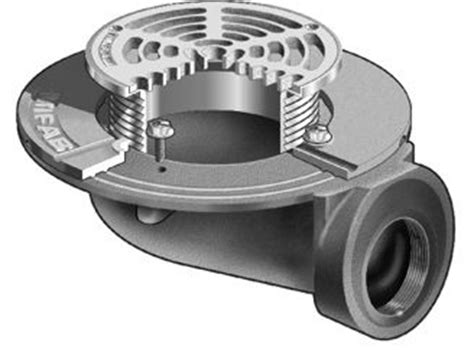 f1100 90 floor drain with side outlet for non membrane