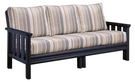 stratford sofa stratford black sofa with milano charcoal sunbrella