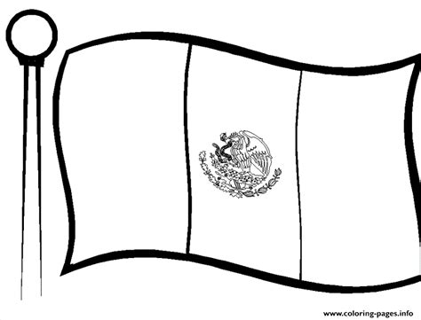 Kids Mexican Flag Coloring Pages Printable Flag For Coloring