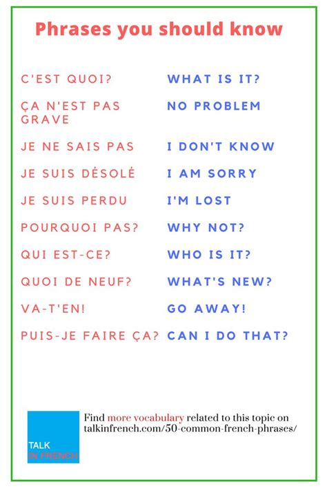 using french vocabulary 0521578515 best 25 french phrases ideas on phrases in french learn french and speak french