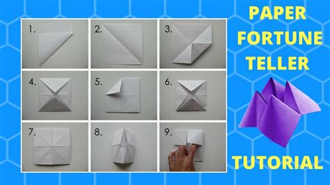 How Do You Fold A Paper Fortune Teller - how to make a fortune teller