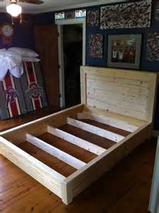 Do It Yourself Bed Frames White Platform Inspired Bed Frame Diy Projects