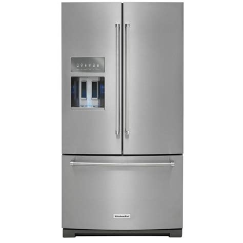 kitchenaid refrigerators door kitchenaid krff707ess platinum interiorfrench door
