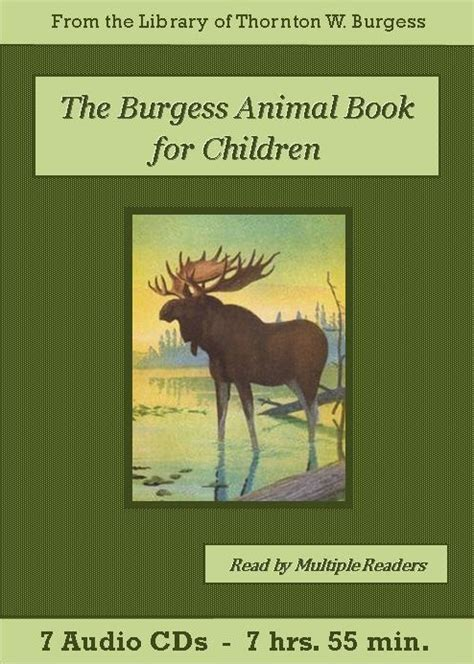 the burgess animal book for children books burgess animal book for children audiobook cd set the