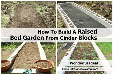 how to build a raised bed garden from cinder blocks