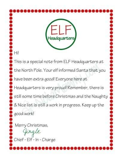 printable elf arrival letter letter from your elf on the shelf free printable