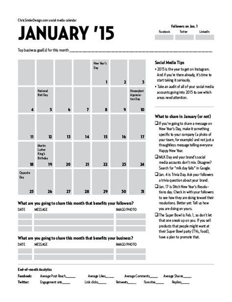 january 2015 social naukar january 2015 social media calendar chris snider
