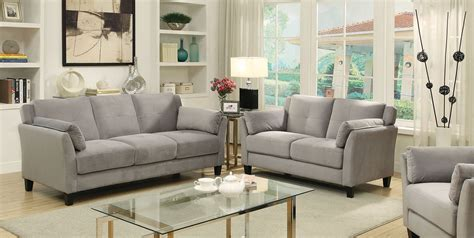 grey sofa and loveseat sets ysabel sofa and loveseat set in grey living room
