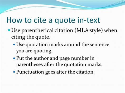 how to write a quote in a paper writing using lead ins quotes and lead outs in