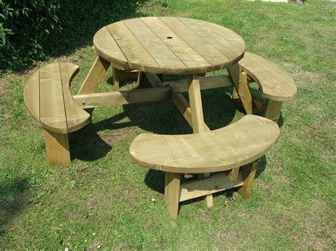 garden table and bench picnic table 8 seats round pub bench garden furniture