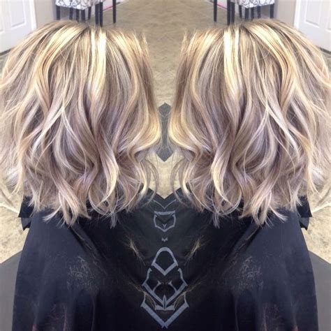 meium length beige blonde hairstyles i absolutely love the color and cut hair pinterest