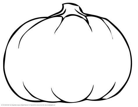pumpkin outline coloring pages blank pumpkin template coloring home