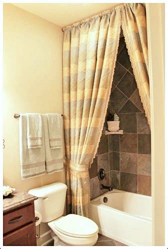 bathroom shower curtains ideas bathroom decorating ideas a shower curtain hung at the