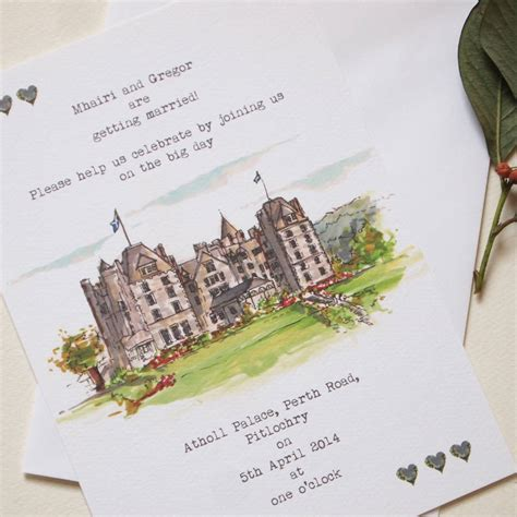 Personalised Wedding Invitations by Personalised Wedding Venue Invitations By House